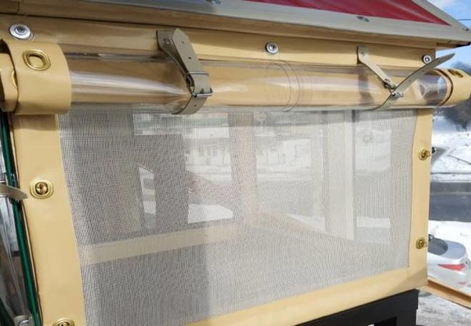 мягкие окна с москитной сеткой