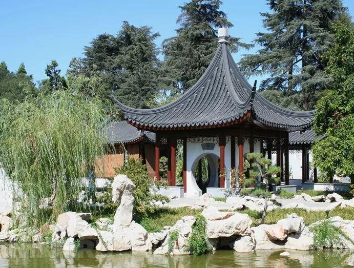 беседка в китае